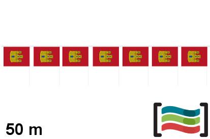 Banderines de plástico Castilla La Mancha 50m