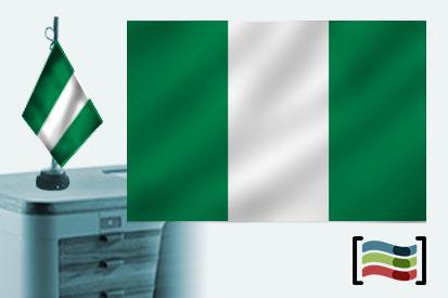 Bandera de Nigeria sobremesa bordada