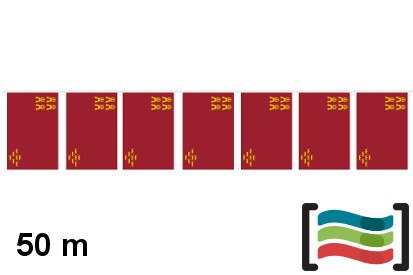 Banderines Región de Murcia 50m