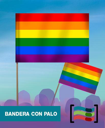 Bandera Orgullo Gay con palo
