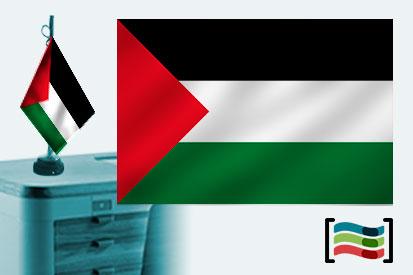 Bandera de Palestina sobremesa bordada