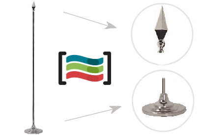 Silver mast with conical base
