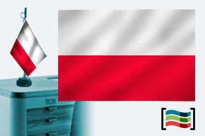 Bandera de Polonia s/e sobremesa bordada