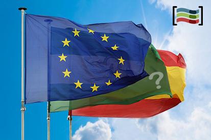 Lot de 3 drapeaux UE + Espagne + Com. Autonome