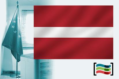 Bandera de Letonia para despacho