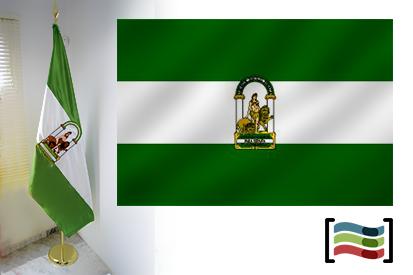 Bandera de Andalucía para despacho