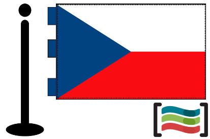 Bandera de Republica Checa sobremesa bordada