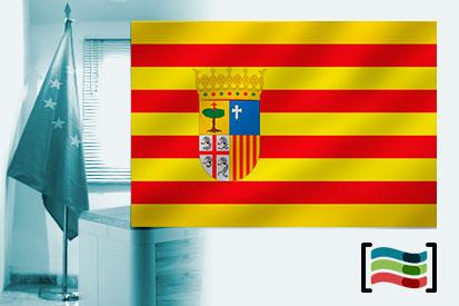 Bandera de Aragón para despacho