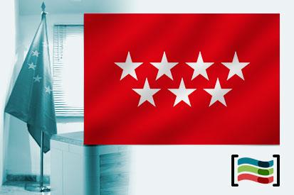 Bandeira Comunidad de Madrid para o escritório