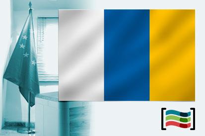 Bandera de Islas Canarias para despacho