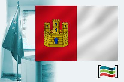 Bandera de Castilla La Mancha para despacho