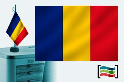 Bandera de Rumania sobremesa bordada