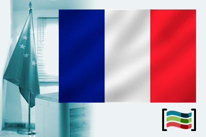 Bandera de Francia para despacho