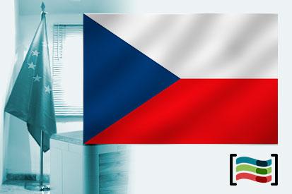 Bandera de República Checa para despacho