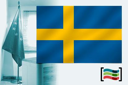 Bandera de Suecia para despacho
