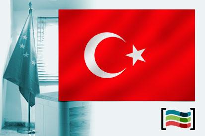 Bandera de Turquía para despacho