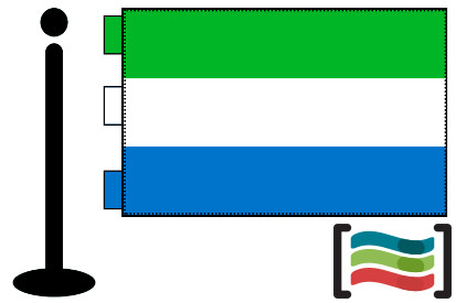 Bandera de Sierra Leona sobremesa bordada