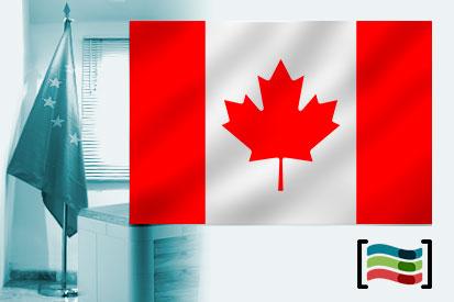 Bandera de Canadá para despacho