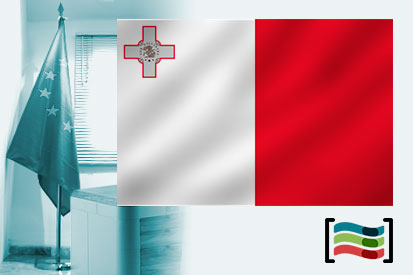 Bandera de Malta para despacho