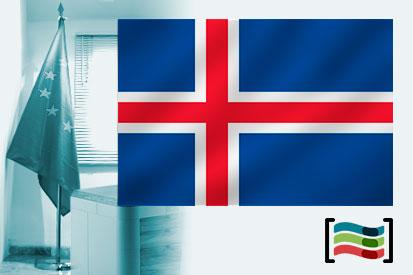 Bandera de Islandia para despacho