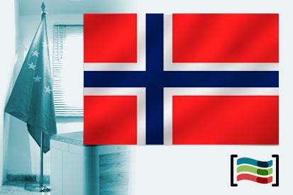 Bandera de Noruega para despacho
