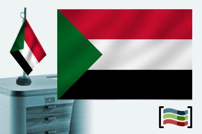 Bandera de Sudan sobremesa bordada
