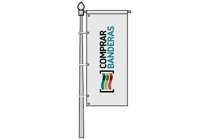 Bandera vertical publicitaria