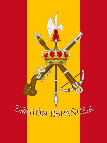 Bandera de mochila Legión española