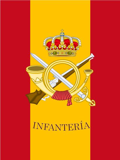 Bandera de mochila de Infantería