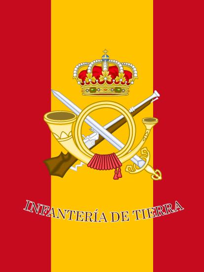 Bandera e mochila de Infantería de Tierra
