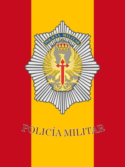 Bandera de mochila Policía Militar