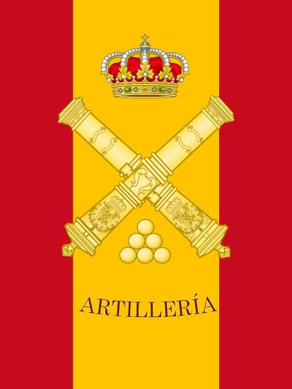 Bandera de mochila de Artillería
