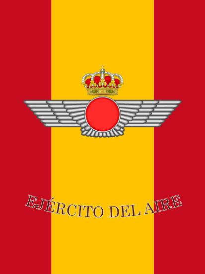 Bandera de mochila Ejército del Aire