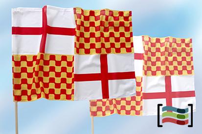 15 Banderas de mano con palo de Tabarnia