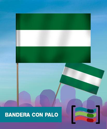 15 Banderas de mano con palo de Andalucía