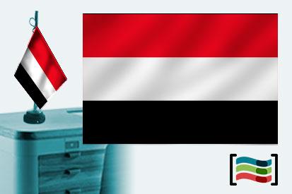 Bandera de Yemen sobremesa bordada