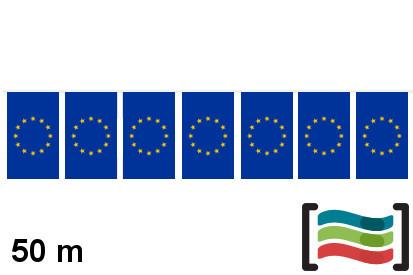Banderines de plástico Unión Europea 50m