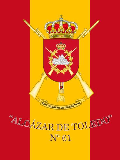 Bandera de mochila del Alcázar de Toledo 61