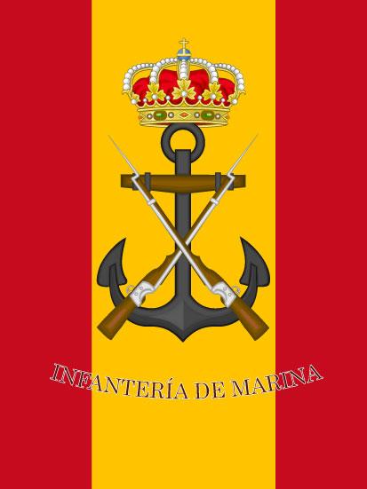 Bandera de mochila de la Infantería de Marina