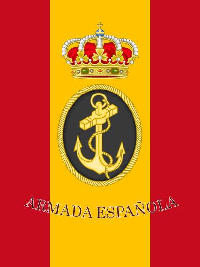 Bandera de mochila de la Armada española