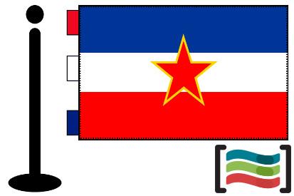 Bandera de Yugoslavia sobremesa bordada