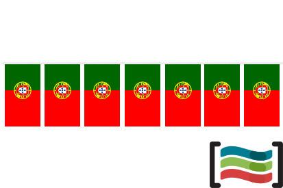 Banderines de plástico Portugal 50m