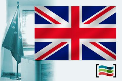 Bandera de Reino Unido para despacho