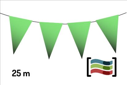 Banderines de plástico verdes 25m