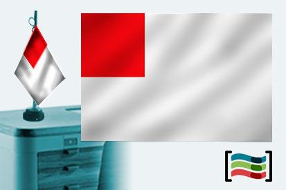 Bandera de Bilbao sobremesa bordada