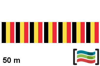 Banderines de plástico Bélgica 50m