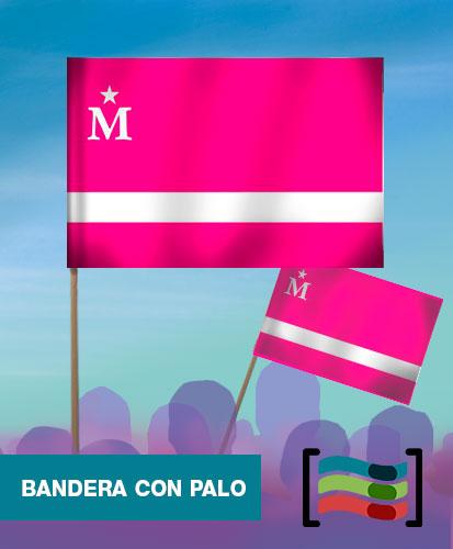 15 Banderas de mano con palo Moderdonia