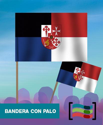 15 Banderas de mano con palo Región de la Mancha