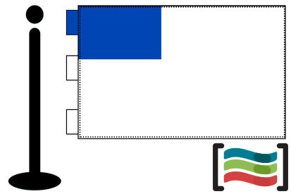 Bandera de San Sebastián sobremesa bordada