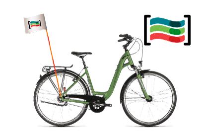 Mástil de bicicleta con bandera
